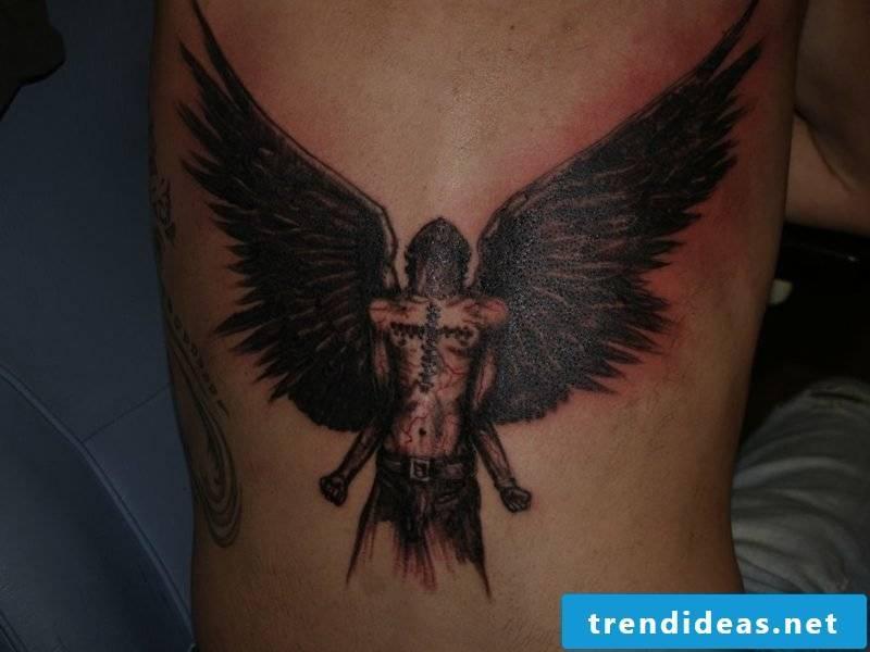 angel tattoo Lowerback