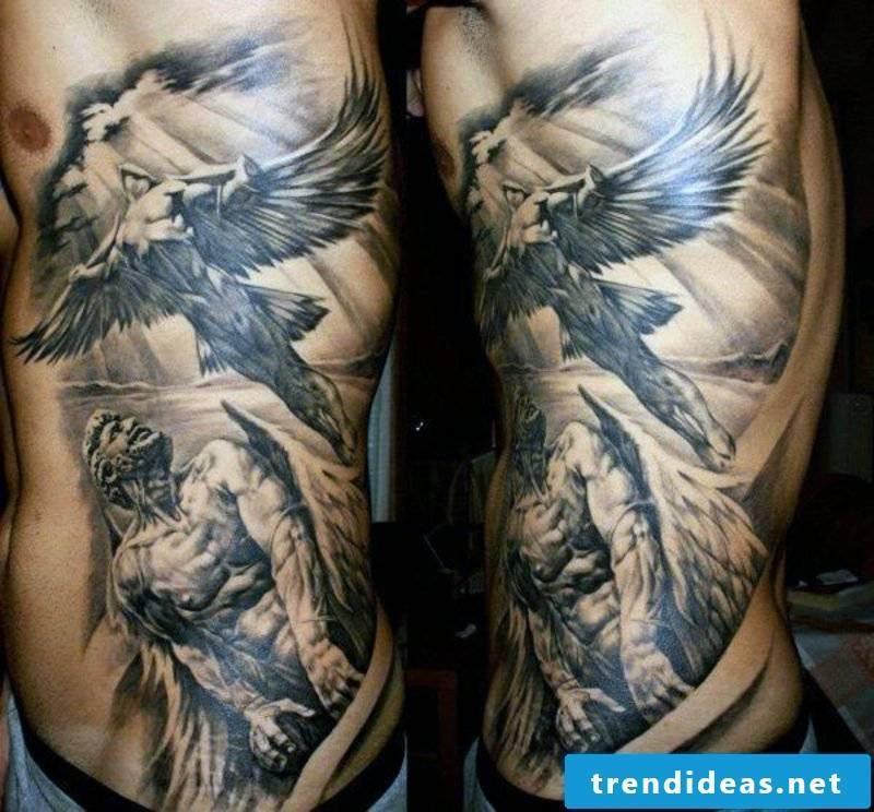 angel tattoo gauardian angel wing