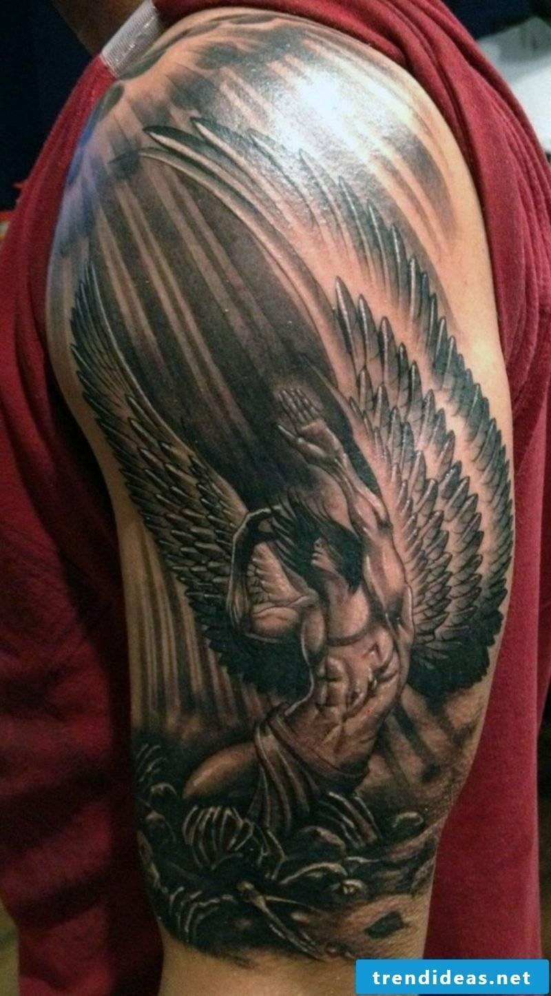 angel tattoo small guardian