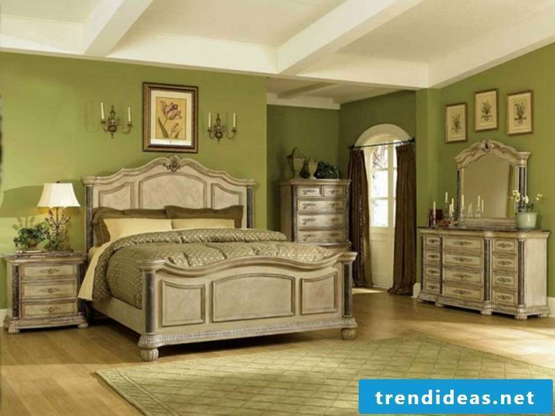 combination in gray and green for the dwelling facilities in vintage style