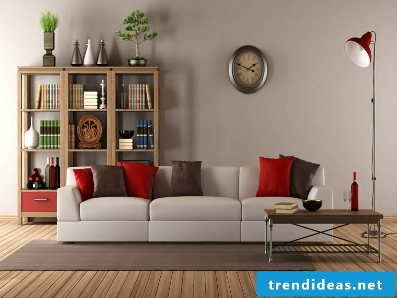 Vitage living room with a wall clock