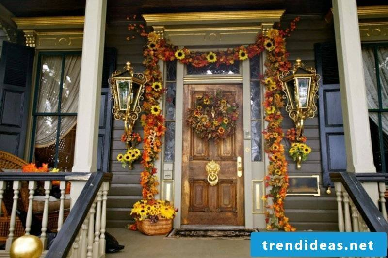 Autumn decoration for the entrance 25 craft ideas to imitate