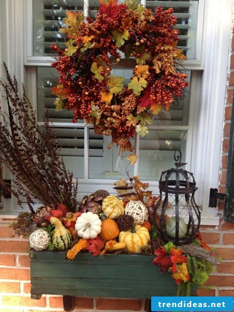 DIY ideas autumn decoration for the house entrance