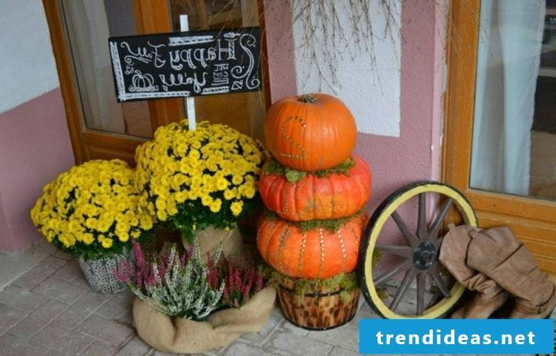 Autumn decoration for the entrance craft ideas