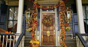 Autumn decoration for the entrance to the house - 25 impressive craft ideas