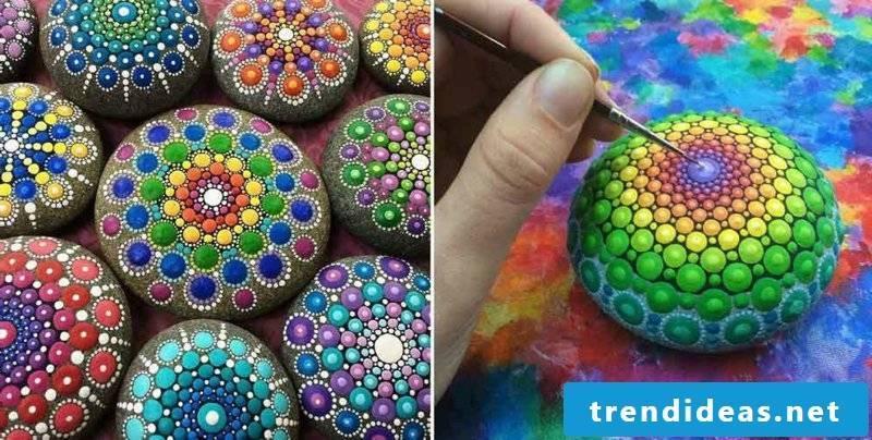 painted stones mandala ideas