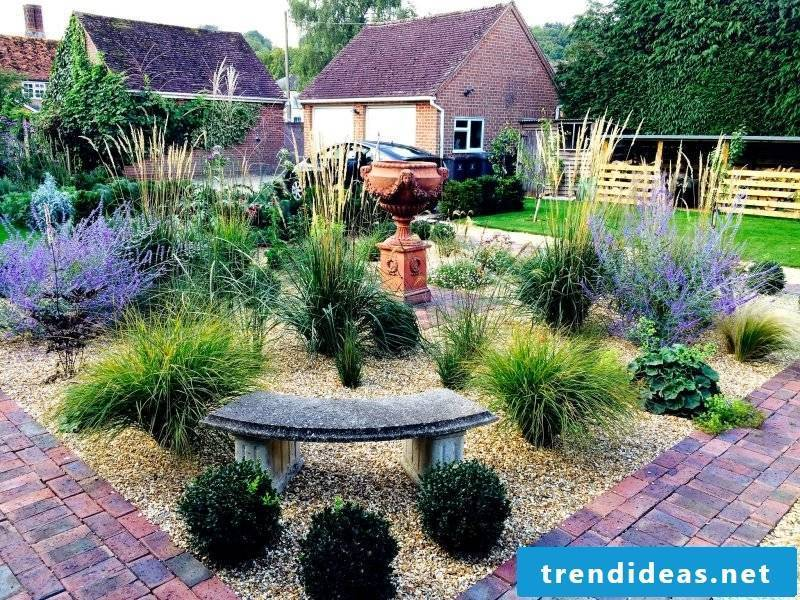 Create a gravel garden: get ideas from picture gallery
