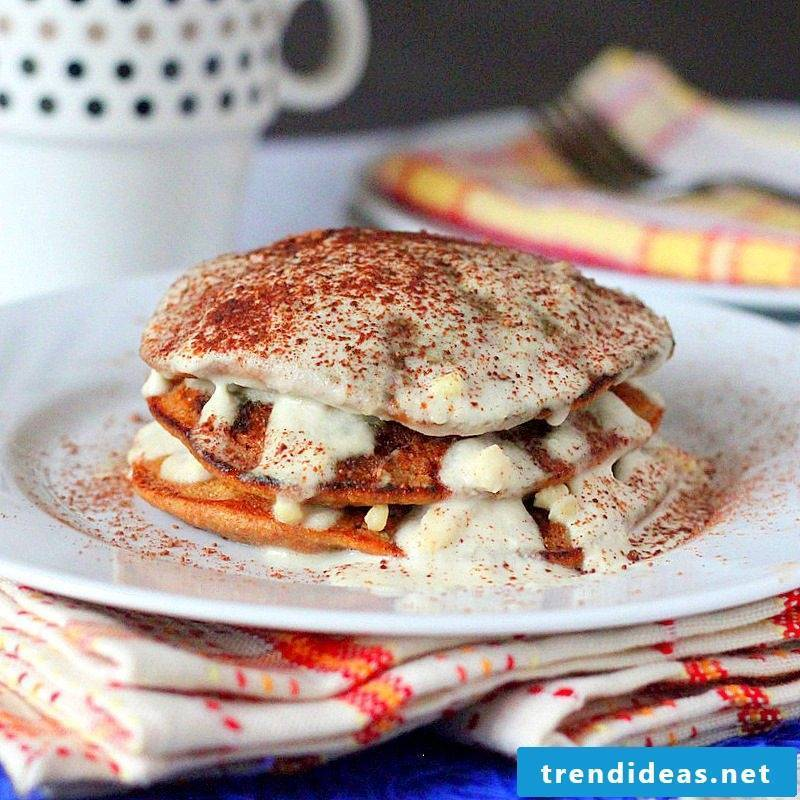 Tiramisu vegan pancakes