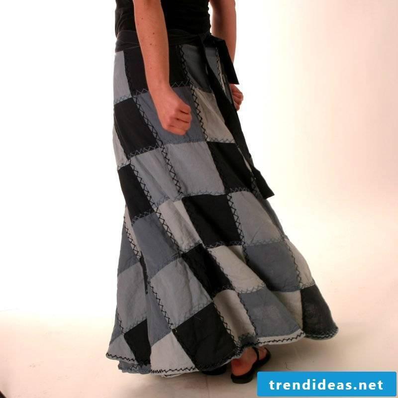 original long wrap skirt