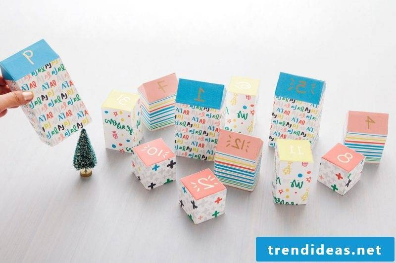 Christmas motives for printing Advent calendar instructions