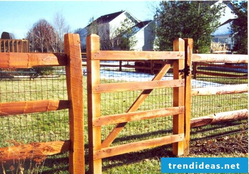 Build garden gate yourself and form a unit with fence