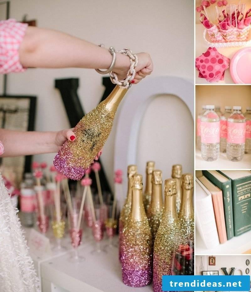 Bachelorette Party Glitter Deco