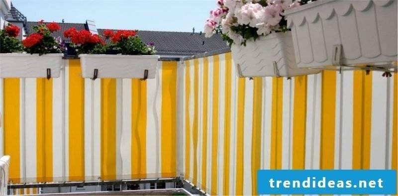 balcony cladding yellow