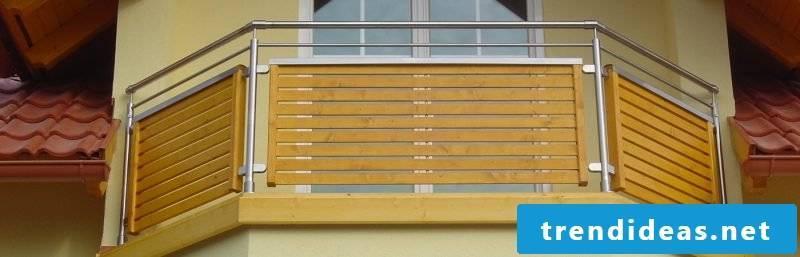 Balcony railings combined