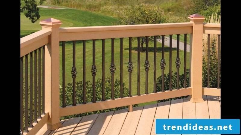 Balcony railing wood