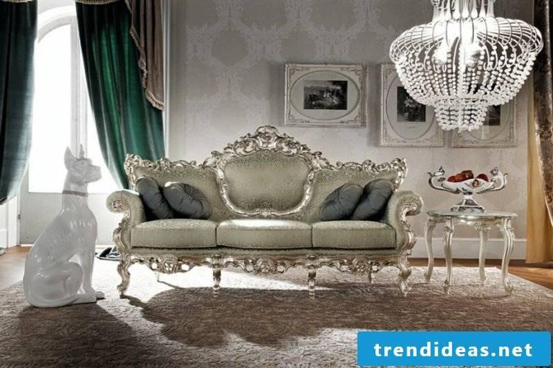 stylish living room baroque furniture
