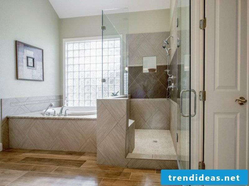 nice and cool bathroom design with glass