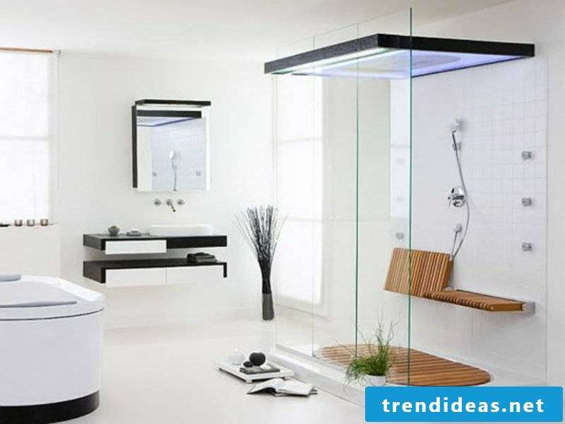 bright bathroom design and white colors