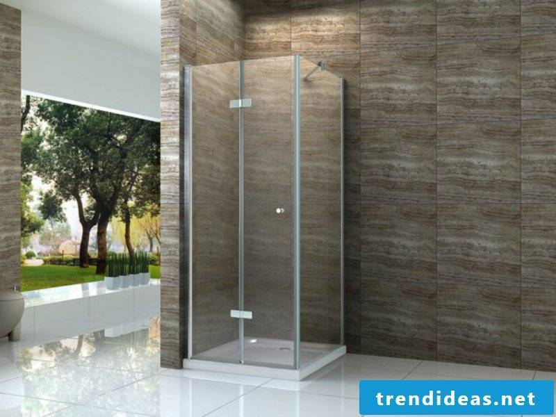 modern glass shower cabin in bathroom design