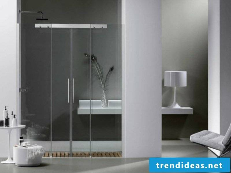 extremely modern glass shower cabin