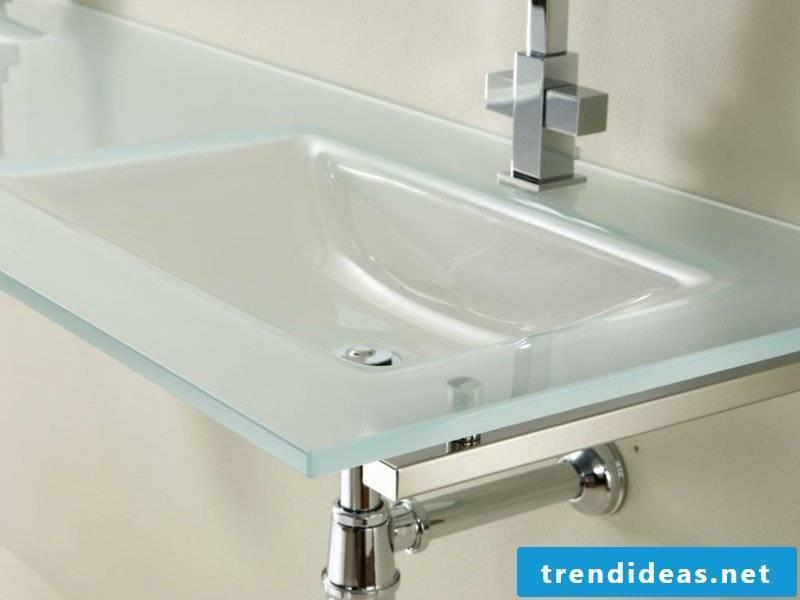 minimalist glass washbasin