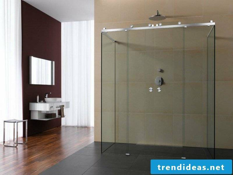 very large glass shower cabin
