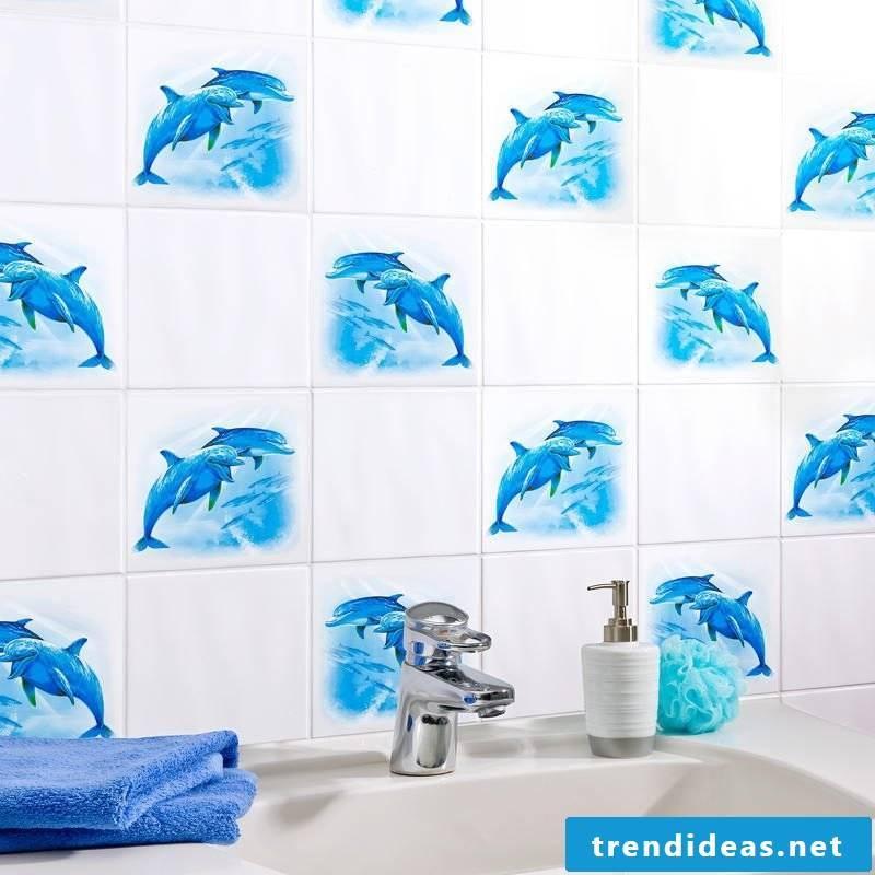 tile sticker for bath funny