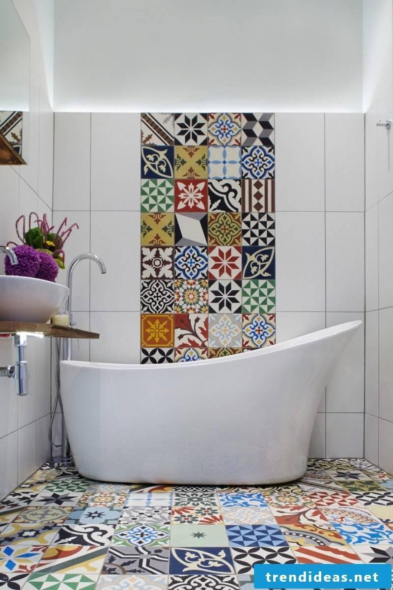tile sticker for bath colorful