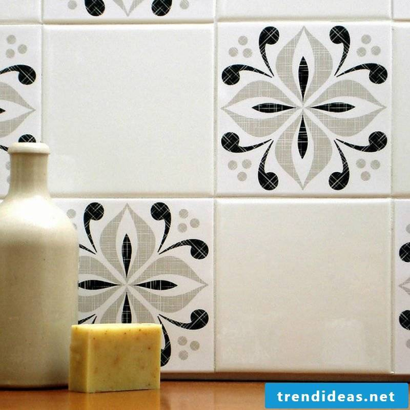 Tile sticker for bath black