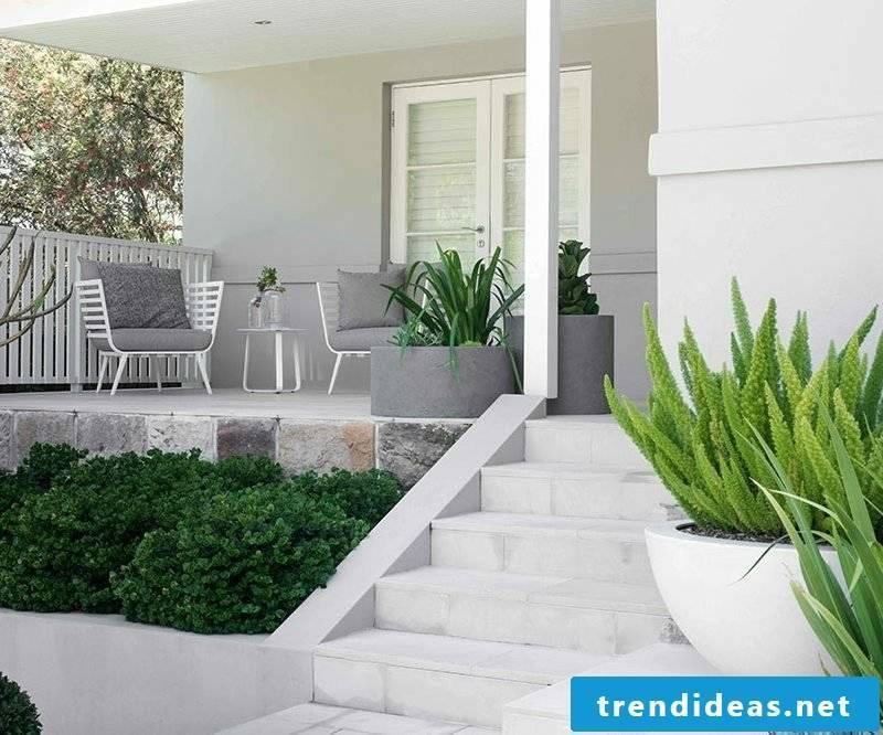 concrete planter garden