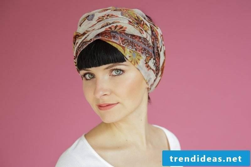 Headscarf tie turban