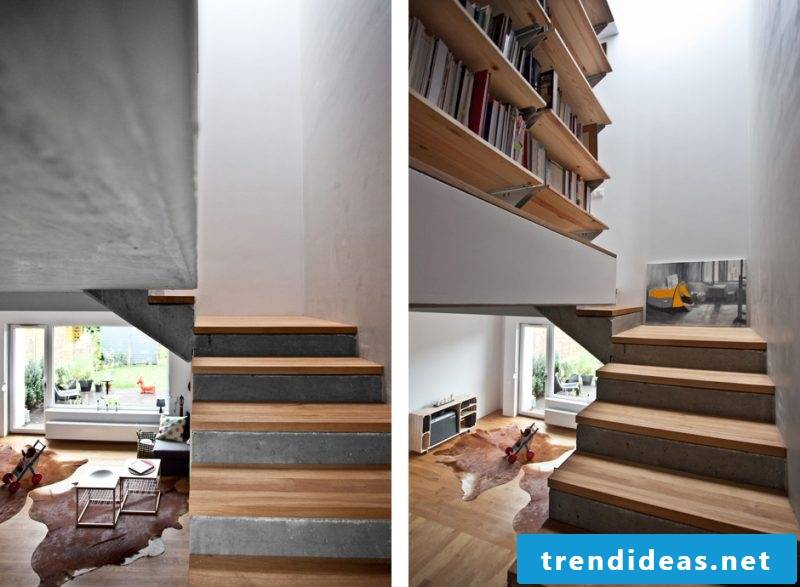 Dress the concrete stairs