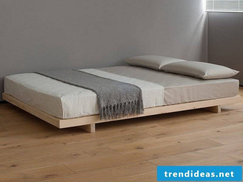 Bed without headboard - couch made of solid wood