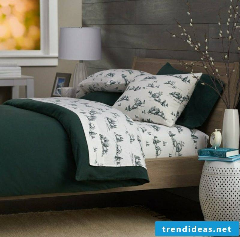 warm bedding for Christmas cotton winter landscape