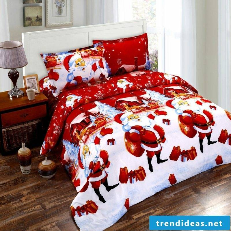 Christmas bedding in red and white gorgeous look