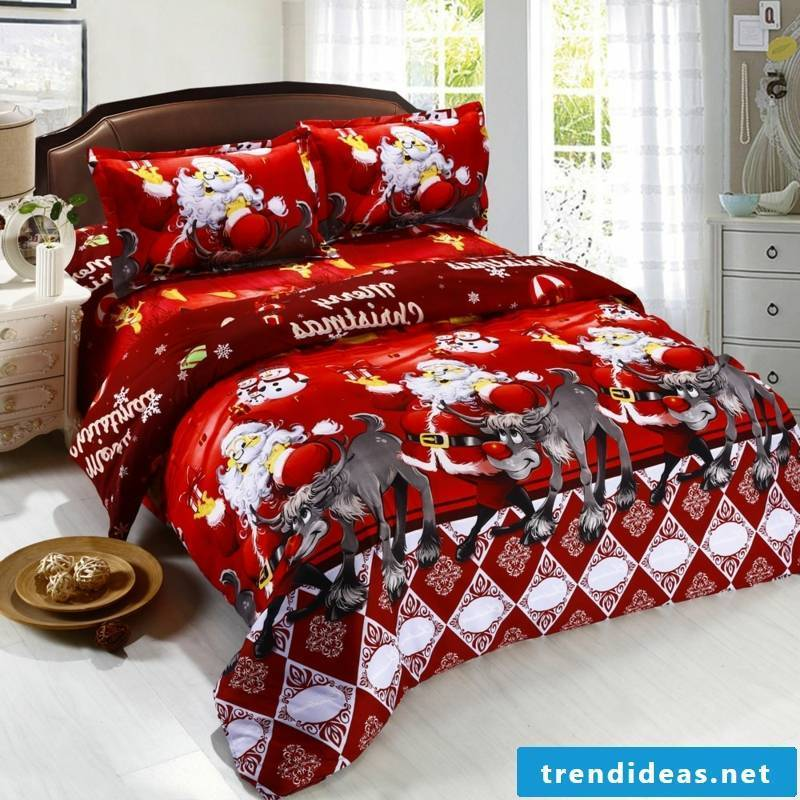Bedding for Christmas funny motifs gorgeous look