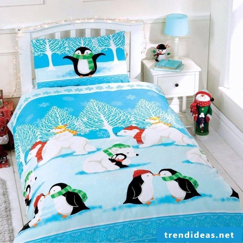 Bedding for Christmas Nursery funny motives