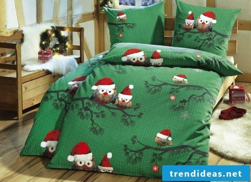 Christmas bedding original design funny owls