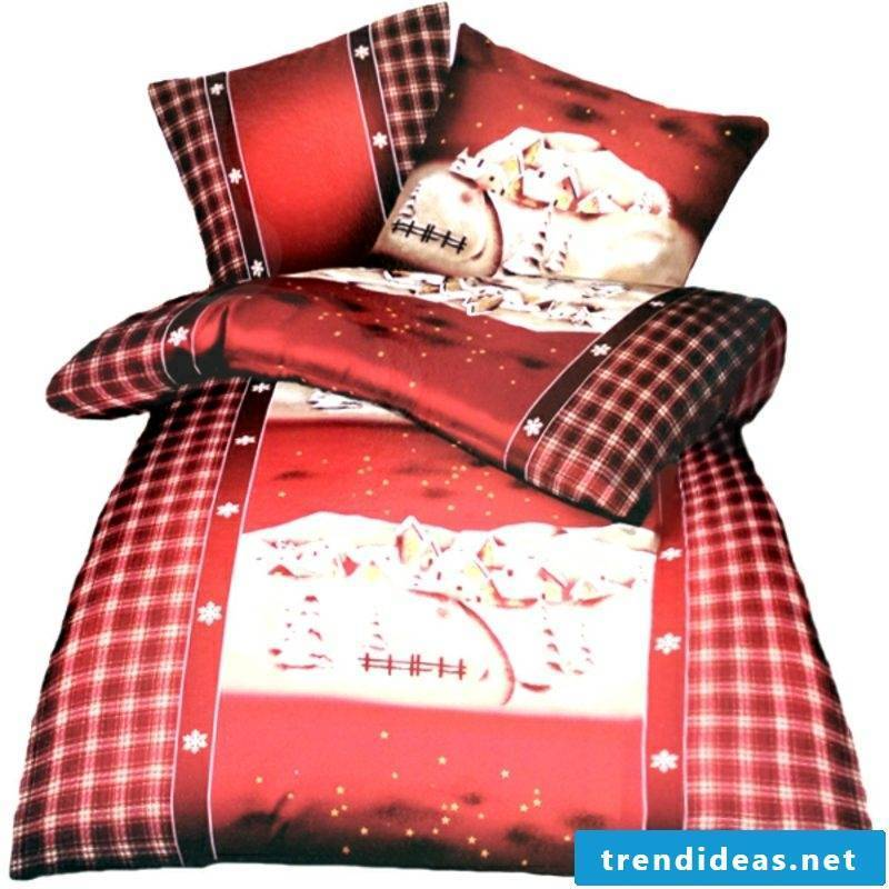 Bedding for Christmas cotton and lake winter landscape