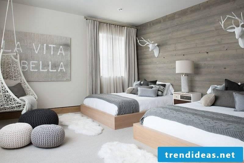 Scandinavian bedroom frame furnishing ideas