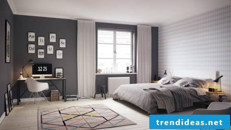 bedroom decor scandinavian style ideas colors carpet bed curtains