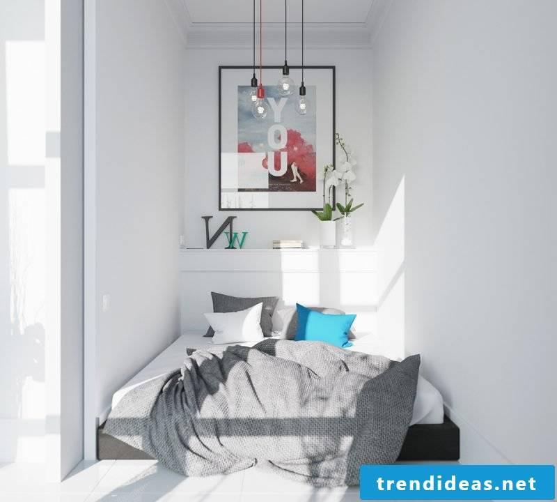bedroom design scandinavian style ideas bed pillow image wall design lighting