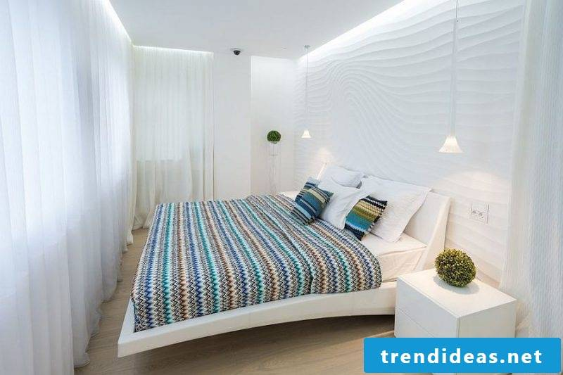 bedroom decorating ideas white colors bright colors bed bedside table