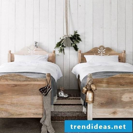 bedroom design ideas scandinavian style bed wood carpet