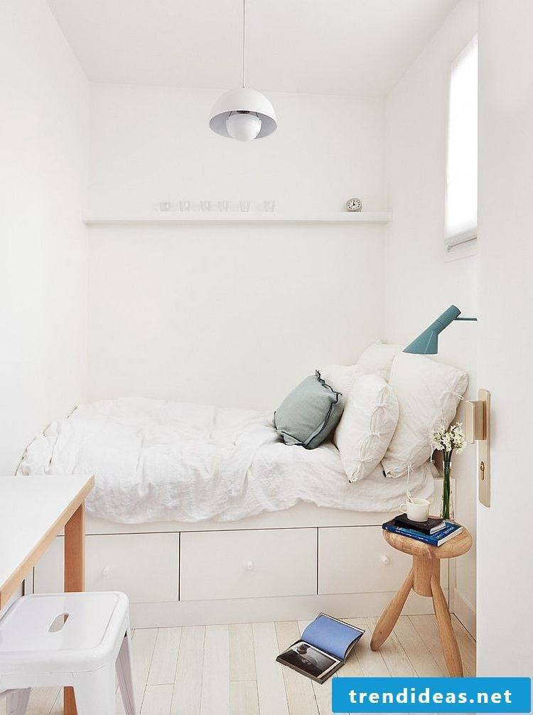 small bedroom decorating scandinavian style ideas bed white