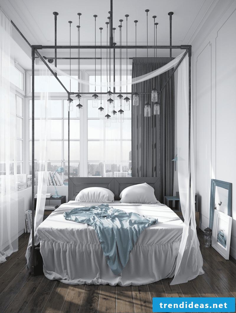 bedroom scandinavian fashion ideas bed pillow lamp lighting curtains