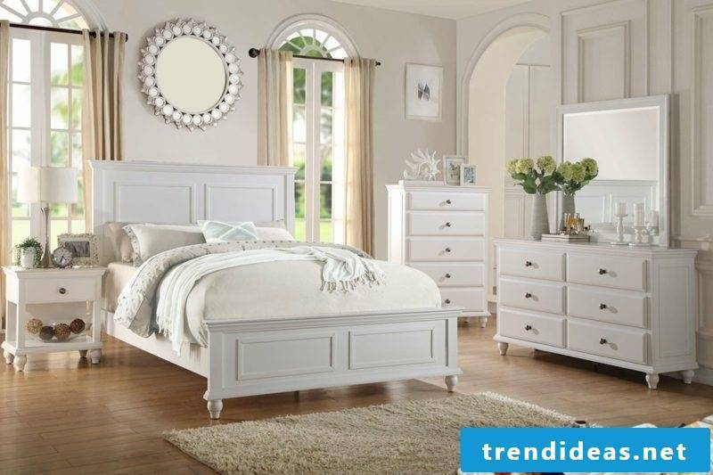 Bedroom decorate neutral colors country style