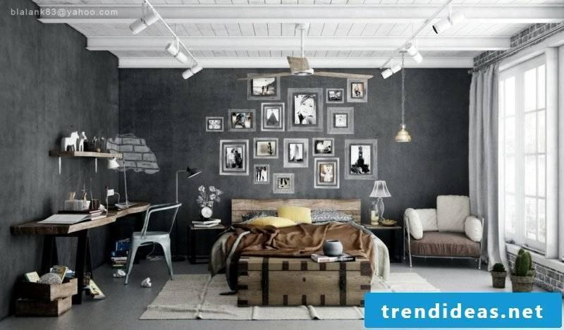Bedroom decorate original ideas industrial style