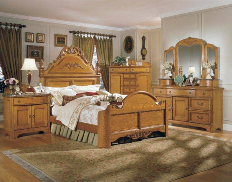 Bedroom furnish country style classic look
