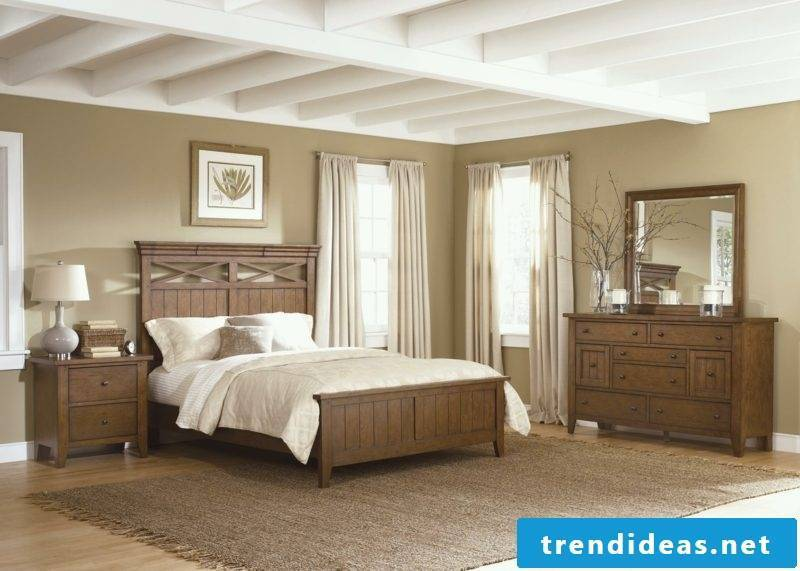Bedroom furnished country style